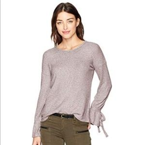 LUCKY BRAND purple bell tie long sleeves top S
